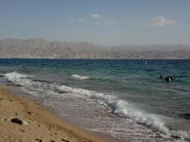 Город и курорт Эйлат на Красном море в Израиле